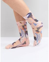 Weekday - All Over Print Sheer Ankle Sock - Lyst