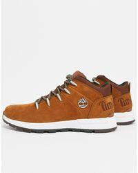 Timberland - Коричневые Ботинки Euro Sprint Trekker-коричневый - Lyst