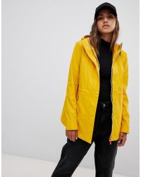 HUNTER - Lightweight Rubberised Yellow Rain Mac - Lyst