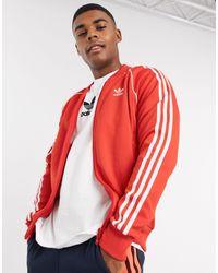 adidas Originals SST - Top sportivo rosso ricco