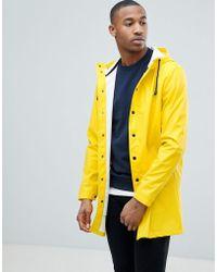 ASOS - Shower Resistant Rain Coat In Yellow - Lyst
