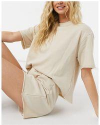 Miss Selfridge Pajama Short Set - Natural