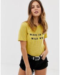 Glamorous Made In The Wild West T Shirt - Yellow