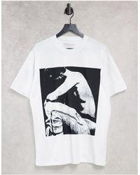 Pull&Bear T-shirt à imprimé XXXTentacion dans le dos - Blanc