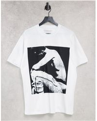 "Pull&Bear T-shirt bianca con scritta ""XXXTentacion"" sulla schiena - Bianco"