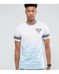 Jacamo | Tall T-shirt With Fade Geo Print In Blue | Lyst