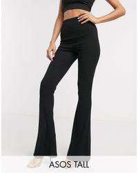 ASOS Asos Design Tall Rib Flare legging - Black