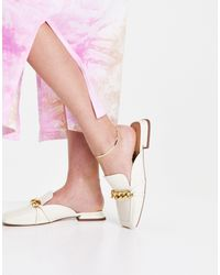 TOPSHOP Lamara Chain Loafer Mule - White