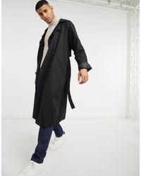 ASOS Trench-coat oversize à double boutonnage - Noir
