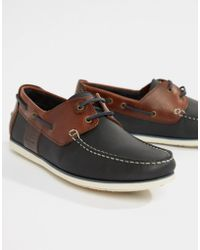 Barbour - Capstan Loafers In Navy - Lyst