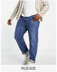 Levi's Big & Tall – 502 – Schmal zulaufende Jeans - Blau