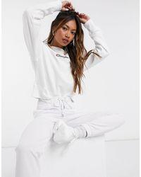 Champion Boxy High Neck Sweatshirt - White
