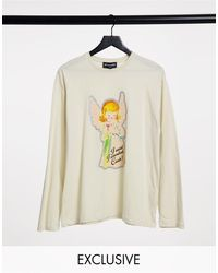New Girl Order Oversized Long Sleeve T-shirt With I Said I Wanted Cash Xmas Graphic - Multicolour