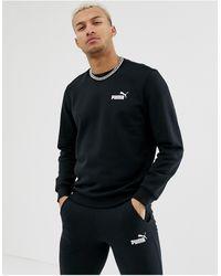 PUMA Essentials - Felpa nera con logo piccolo - Nero