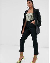 ASOS Mix & match - Pantaloni da abito eleganti sartoriali a sigaretta - Nero