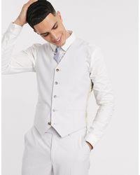 ASOS Wedding Slim Suit Waistcoat - Grey