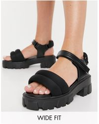 Raid Wide Fit - Chunky Heeled Sandals - Lyst