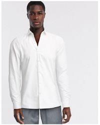 Moss Bros Белая Рубашка Узкого Кроя Moss London-белый