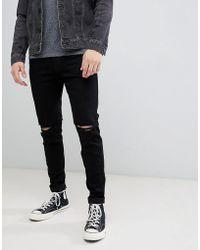 Hollister - Destroy Super Skinny Jeans In Black - Lyst