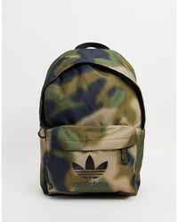 adidas Originals - Классический Рюкзак С Камуфляжным Принтом -зеленый Цвет - Lyst