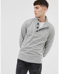 J.Crew Mercantile Mock Neck Sweatshirt - Gray
