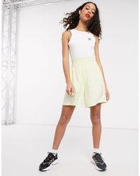 adidas Originals Adicolor Satin Look Shorts - Yellow
