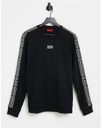 HUGO – Doby – Sweatshirt mit Rundhalsausschnitt - Schwarz