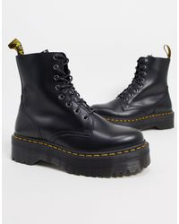 Dr. Martens - Черные Ботинки Из Искусственной Кожи На Платформе -черный - Lyst
