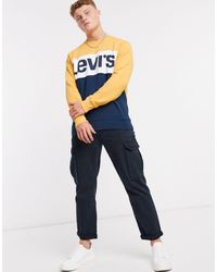 Levi's Классический Свитшот С Круглым Вырезом -темно-синий