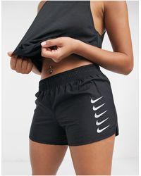 Nike Short Met Swoosh-logo - Zwart