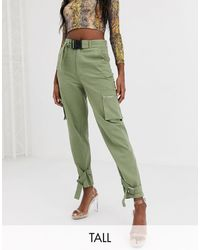 Missguided Utility Cargo Trousers - Green