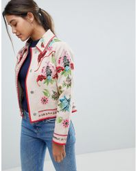 ASOS - Embroidered Canvas Jacket - Lyst