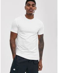 ASOS T-shirt girocollo attillata - Bianco