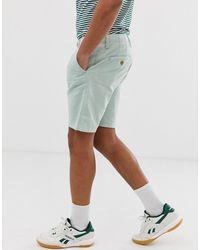 Blend – e Shorts aus Baumwollleinen-Mischung - Grün