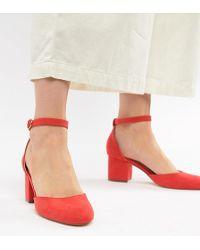 London Rebel - Mid Block Heeled Shoes - Lyst