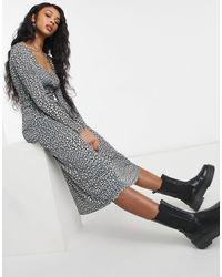 TOPSHOP Монохромное Платье Миди Из Сетчатой Ткани -многоцветный - Черный
