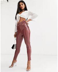 ASOS Pantalones ajustados - Rosa