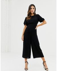 ASOS - Tea Jumpsuit With Balloon Sleeve - Lyst