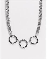 Reclaimed (vintage) Серебристое Ожерелье-цепочка -серебристый - Металлик