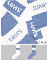 Levi's 2 Pack Sustainable Ribbed Socks - White