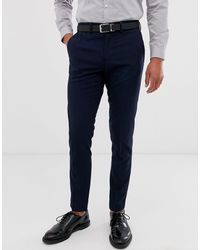 Jack & Jones Intelligence Slim Fit Smart Trousers - Blue