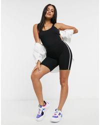 ASOS Bodysuit With Asymmetric Cami Straps - Black