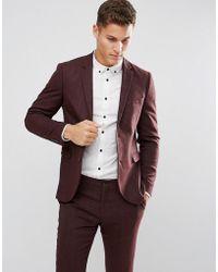 Jack & Jones - Premium Slim Suit Jacket In Herringbone Tweed - Lyst