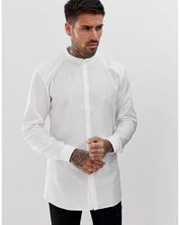 HUGO Белая Рубашка Со Скрытой Планкой И Воротником На Пуговице Ertis-белый