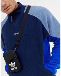 adidas Originals - Trefoil Flight Bag In Black Bk6730 - Lyst