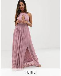 TFNC London - Exclusivité - Robe longue plissée pour demoiselle d'honneur - Lyst
