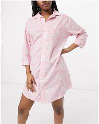 Lauren by Ralph Lauren Ночная Сорочка С Принтом Пейсли -многоцветный - Розовый