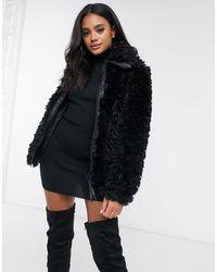 Missguided Черное Пальто Oversized -черный Цвет