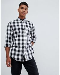 Produkt - Gingham Check Shirt In Slim Fit - Lyst