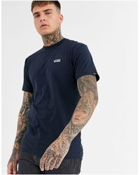 Vans T-shirt blu navy con logo piccolo